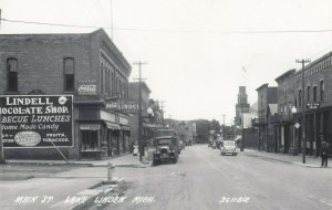 RP: LAKE LINDEN , Michigan , 1930-40s ; Main Street