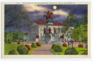 Linen Night View State Capitol Richmond Virginia VA