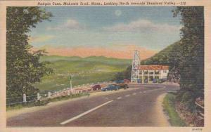 Massachusetts Mohawk Trail Hairpin Turn Looking North Towards Stamford Valley...