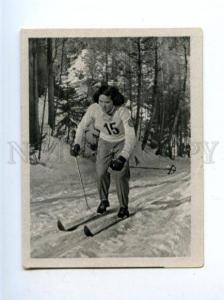 166969 VII Olympic RADJA JEROSCHINA skier CIGARETTE card