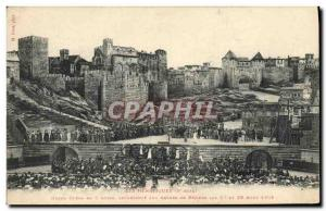Old Postcard The Heretics Theater Grand Opera in 3 acts Arenes de Beziers