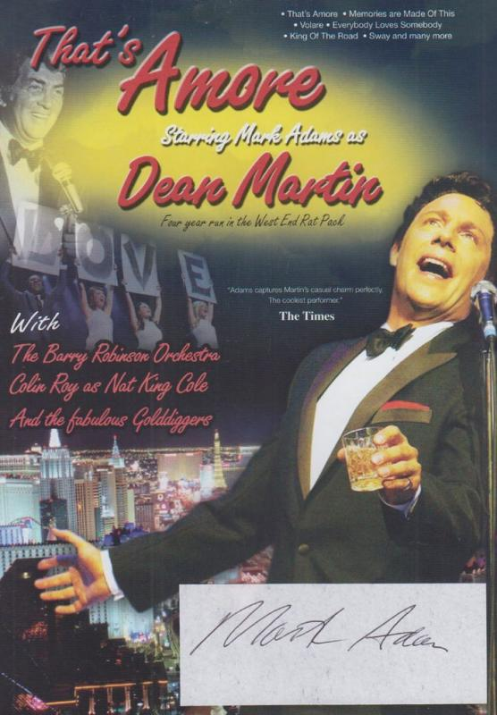 Mark Adams Thats Amore Dean Martin Story Play Drama Hand Signed Theatre Flyer