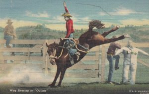 Wag Blessing on OUTLAW, 1930-40s; Rodeo Cowboy