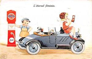 Make Up Post Card L'eternel Feminin Postcard 1932