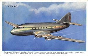 British Aeroplane~Armstrong Whitworth Apollo~Siddeley Mamba Turbo-Jets~1940s PC
