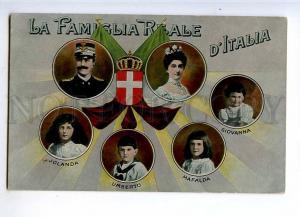227114 ITALIAN royal family Vintage collage postcard flag