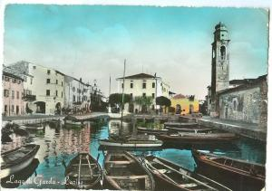 Italy, Lago di Garda, Lazise, 1958 used real photo Postcard