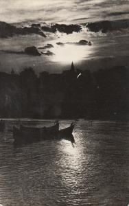 Romania Mangalia sunset 1958