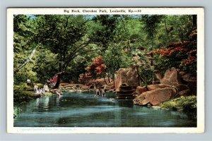 Louisville, KY-Kentucky, Big Rock, Cherokee Park, Vintage Postcard
