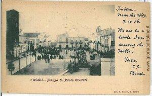 08327  CARTOLINA d'Epoca FOGGIA Citta': PIAZZA S. P. CIVIDALE