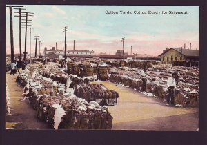 P1584 vintage unused postcard cotton yard, cotton ready for shipment
