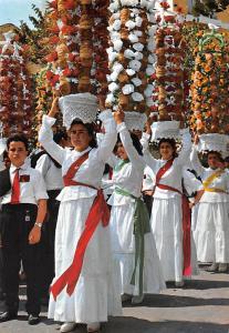 Portugal Tomar Harvest thanksgiving festival Known as Festa dos Tabuleiros