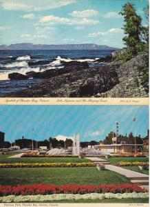 (2 cards) Sleeping Giant Lake Superior Paterson Park Thunder Bay Ontario pm 1981