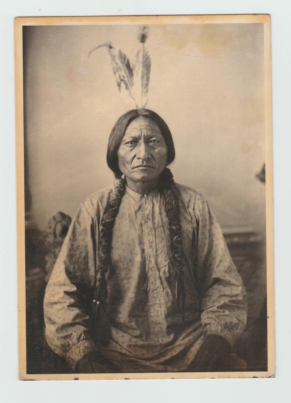 Sitting Bull Postcard Native American Indian Chief Hunkpapa Sioux