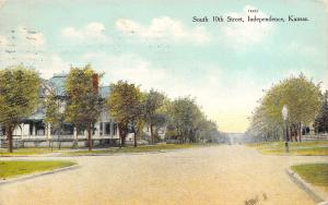 Independence Kansas~South 10th Street~Big House on Corner Intersection~1909 PC
