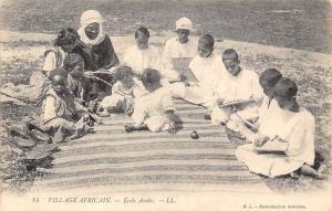Village Africain Ecole Arabe School Children