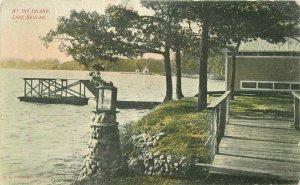 At the Island 1908 Lake Bullagh Wisconsin Postcard Kropp 12427