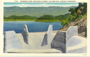 Morning Glory Spillway at South Holston Dam, Tennessee, TN, Linen