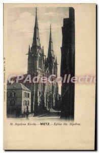 Old Postcard Metz Eglise Ste Segolene