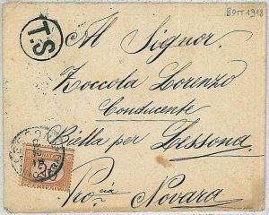 38657   ITALIA REGNO - Busta Tassata  a  Lessona 1918