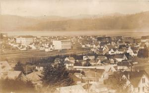 Marshfield-Coos Bay Oregon Bird's Eye View~1908 RPPC-Postcard