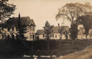F21/ Hartland Maine RPPC Postcard c1910 Street View Homes