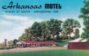 ARKADELPHIA, Arkansas, 1940-1960's; Arkansas Motel, Highway 67