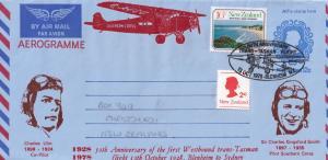 Charles Ulm First Tasman Flight Christchurch to Sydney Aerogramme