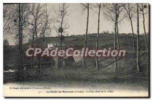 Old Postcard The Forest of Mervent (Vendee) Le Pont Neuf de la Vallee