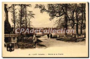 Old Postcard Caen Entree De La Prarrie
