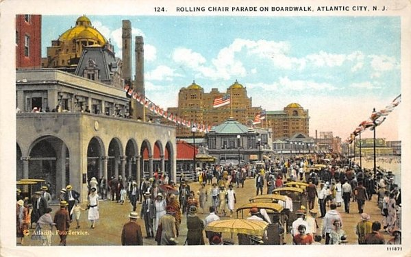 Rolling Chair Parade on the Boardwalk in Atlantic City, New Jersey