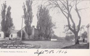 House & Poplar trees , Grand Pre , Nova Scotia , Canada , 1901-07