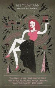 Hedy Lamur Film Actress Scientist Inventor Postcard