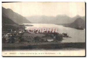 Postcard Old Annecy Talloires and the end of the Lake seen from Villa Noblemaire