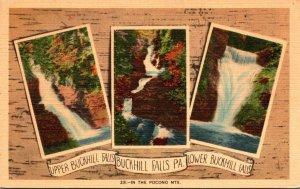 Pennsylvania Buckhill Falls Upper and Lower Buckhill Falls