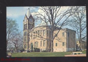 FORREST CITY ARKANSAS ST. FRANCIS COUNTY COURT HOUSE 1950's CARS OLD POSTCARD