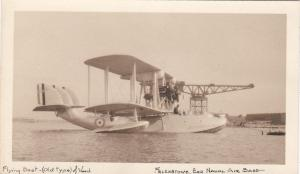 RP: Flying Boat Airplane made of wood , Felexstove , Exp. Naval Air Base , 10-20
