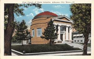 Arkansas City Kansas 1920s Postcard First Church of Christ Scientist