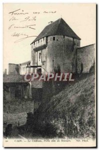 Old Postcard Caen Relief called Chateau Gate