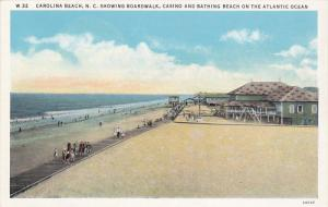 Boardwalk, Casino and Bathing Beach on the Atlantic Ocean, Carolina Beach, No...