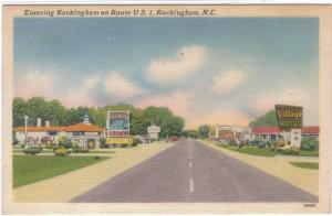 North Carolina- Rockingham - Entering Town on U.S.1 - Motels