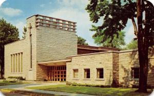 Goshen IN Art Deco Eighth Street Mennonite Church~Finished in 1957