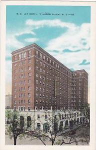 North Carolina Winston Salem R E Lee Hotel