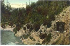 Tunnel In Cow Creek Canyon, Oregon, 1900-1910s