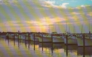 Delaware Rehoboth Beach Sunset At Indian River Yacht Basin