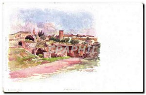 Old Postcard Fantasy Illustrator Frejus