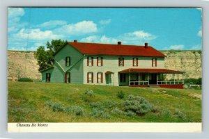 Medora ND- North Dakota, Chateau de Mores Fully furnished Museum Chrome Postcard