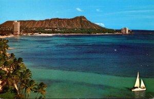 Hawaii Waikiki Beaach Diamond Head 1980