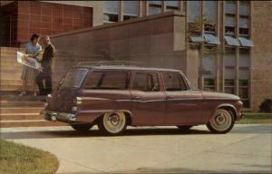 1962 Lark Station Wagon Car Studebaker Promo Adv Vintage Postcard