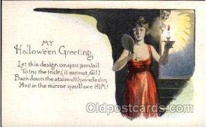 Halloween Postcard Unused